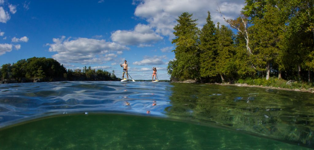 MEC stand up paddle in Charleston Park, Ontario, Canada