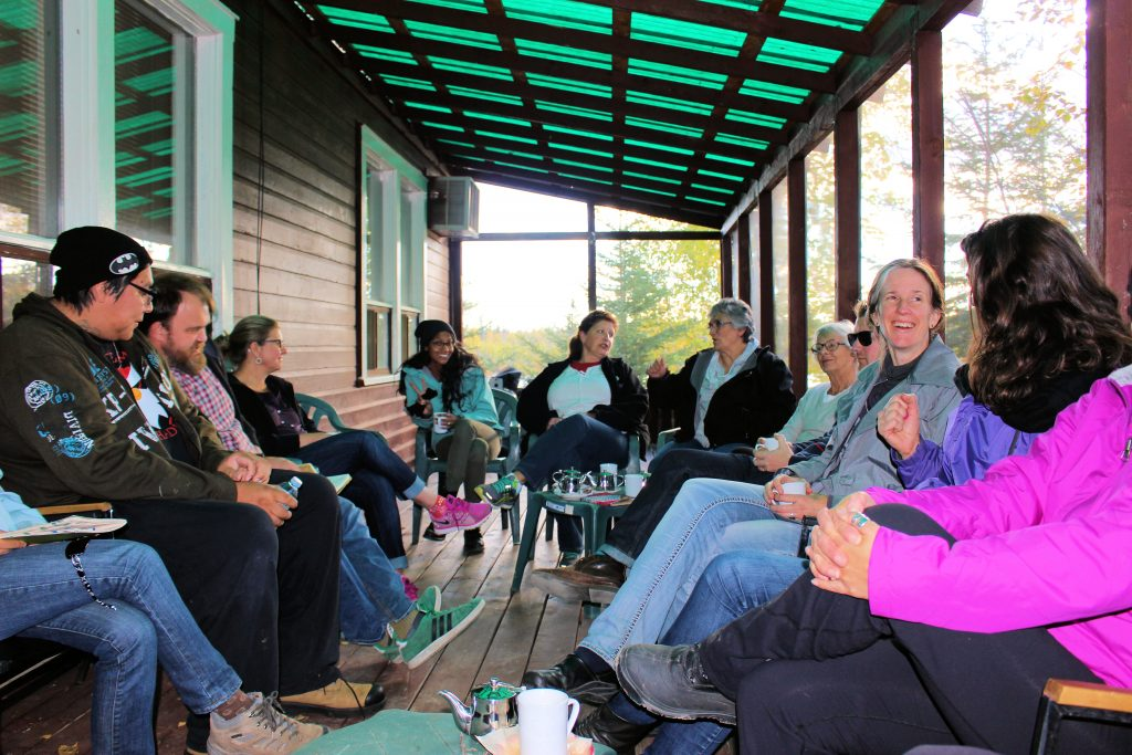 Group discussions in Sherridon. Photo: Becky Cook.