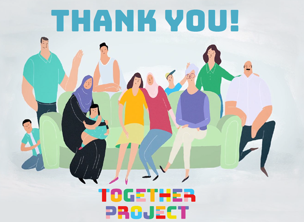 a graphic says thank you from the together project